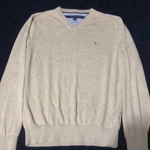 beige v-neck Tommy Hilfiger sweater